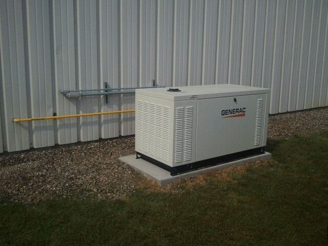 Advanced Heating Cooling 1 25 KW generator Install.JPG