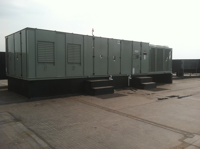 Advanced Heating Cooling 2 New Bakery 130 ton unit.JPG